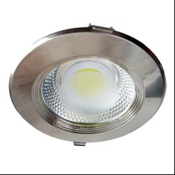 Φωτιστικό Inox Led COB στρογγυλό 10watt Θερμό λευκό