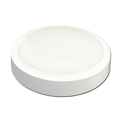 LED Πλαφονιέρα 15W Στρογγυλή Ψυχρό Λευκό