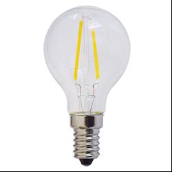 Filament E14 Λάμπα Led G45 4W 400Lm Θερμό λευκό