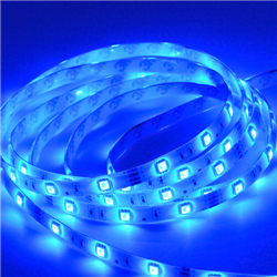 Ταινία led αδιάβροχη Professional IP65 4.8 watt με 60 led 3528 smd ανα μέτρο Μπλε