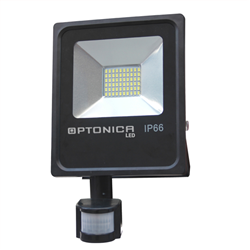 LED Προβολέας SMD 10 Watt με Ανιχνευτή Κίνησης Φυσικό Λευκό