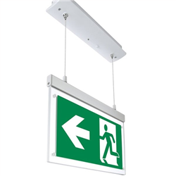LED Φωτιστικό Ασφαλείας Χωνευτό Κρεμαστό 2W