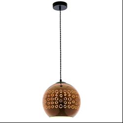 Φωτιστικό 3D Κόσμημα από Γυαλί Χαλκό με Κύκλους D250