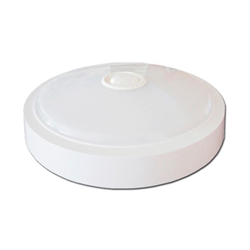 LED Πλαφονιέρα 15W Στρογγυλή Με Ανιχνευτή Κίνησης Θερμό Λευκό