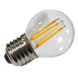 Filament E27 Λάμπα Led G45 4W 400Lm Θερμό λευκό