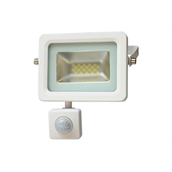 LED Προβολέας Slim SMD I-Desing 10 Watt με Ανιχνευτή Κίνησης Θερμό Λευκό