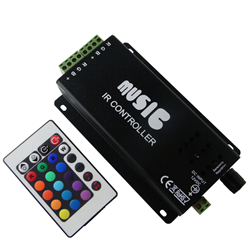 Music RGB Controller με Dimmer για ταινία Led 216w