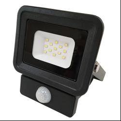 LED Προβολέας SMD 10 Watt  Classic Line2 με Ανιχνευτή Κίνησης Φυσικό Λευκό Μαύρος