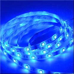 Ταινία led αδιάβροχη IP65 4.8 watt με 60 led 3528 smd ανα μέτρο Μπλε
