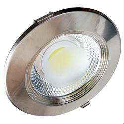 Φωτιστικό Inox Led COB στρογγυλό 30watt Θερμό λευκό