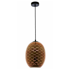 Φωτιστικό 3D Κόσμημα από Γυαλί Χαλκό - Γλάρους D220