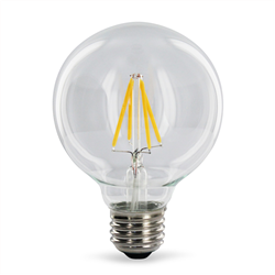 Filament E27 Λάμπα Led G125 8W Θερμό Dimmable