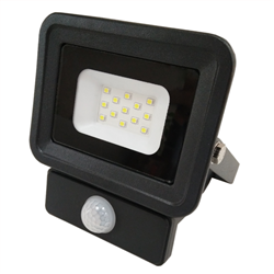 LED Προβολέας SMD 10 Watt  Classic Line2  με Ανιχνευτή Κίνησης Θερμό Λευκό Μαύρος