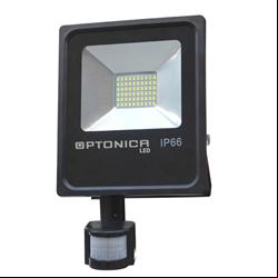 LED Προβολέας SMD 10 Watt με Ανιχνευτή Κίνησης Ψυχρό Λευκό