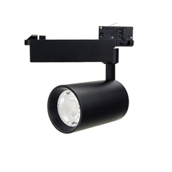 Led Φωτιστικό Ράγας Μαύρο 25watt 4000K Φυσικό Λευκό