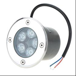 Φωτιστικό Led Δαπέδου Χωνευτό 220V 5x1Watt Θερμό Λευκό