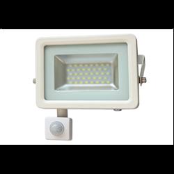 LED Προβολέας Slim SMD I-Desing 20 Watt με Ανιχνευτή Κίνησης Φυσικό Λευκό