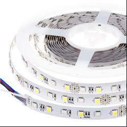 Ταινία led IP20 14.4 watt με 60 led 5050 smd ανα μέτρο RGB Ψυχρό λευκό